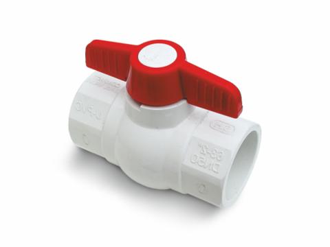 PVC ball valve (SL x SL)