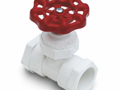 PVC globe valve (SL x SL)