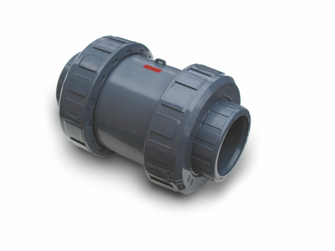 PVC cone check valve spring weighed (SL x SL) PN10