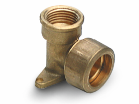 Brass ear elbow with trans. (FIP)