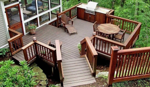 GARDEN WOODEN DECK IDEAS